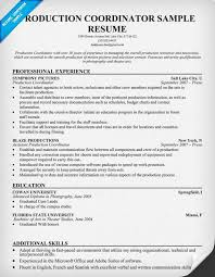 production coordinator resumes production coordinator resume resumecompanion com resume samples