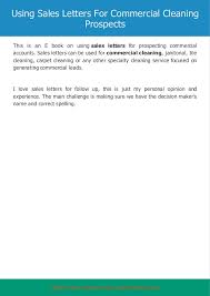 Sample Cleaning Sales Letter