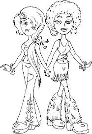 Small Picture Pretty Bratz Coloring Pages For Girls Fashion Fashion Coloring