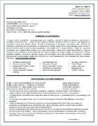 Federal Government Resume Examples Government Resume Template