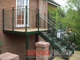 exterior metal staircase prices. external steel staircase installed by bradfabs in london exterior metal prices