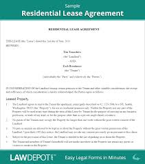 Lease Agreement Example Residential Lease Agreement Free Rental Lease Form US LawDepot 3