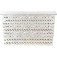 Ящик ротанг IDEA белый ротанг 23 л <b>купить</b> за 469 руб в Нижнем ...