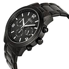new guess watch men chronograph black stainless steel case guess watch for men u15061g1