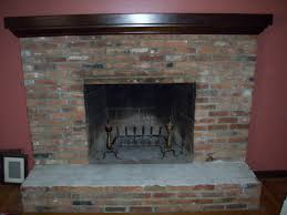 reface brick fireplace makeover