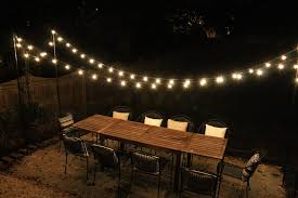 charming and romantic outdoors string lights
