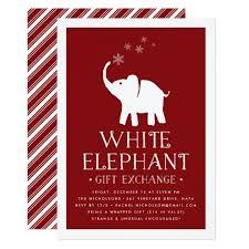 white elephant gift invitation. Wonderful Elephant White Elephant Gift Exchange Party Invitation With T