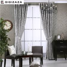 custom size curtains newchenille blinds jacquard fabric curtain for livingroom silver