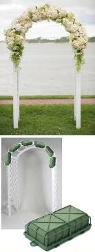 wedding arch flowers foam cages for arch flowers learn how to make bridal bouquets corsages boutonnieres table centerpieces and church decorations