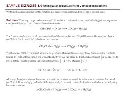 sample exercise 3 4 writing balanced equations for combustion reactions