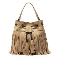new leather drawstring bucket bag bohemia tassel hand bag boho chic indian hippie gypsy tribal bohemian sac ibiza bucket italian leather handbags pink