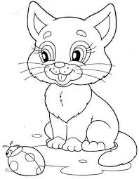 Vector collection of cartoon zoo animals in line art. 30 Free Printable Kitten Coloring Pages Kitty Coloring Sheets