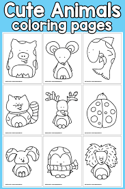 Awesome collection of animal coloring pages. Cute Animals Coloring Pages Easy Peasy And Fun Membership