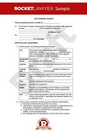 Parking Space Lease Agreement Template Uk 10 Month To Month Rental ...
