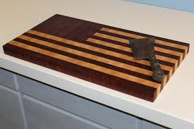 American Flag Cutting Board: a Historical Heirloom (End Grain)