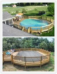 Winter Covers For Above Ground Pools With Decks Round Designs