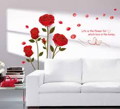Small Picture Buy Decals Design Romantic Rose Flowers Wall Sticker PVC Vinyl
