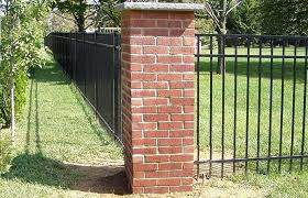 Brick And Iron Fence Wrought Iron Fencing With Brick Border Brick