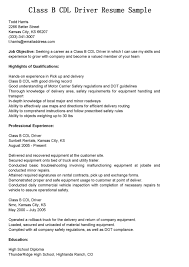 Truck Driver Job Description Resume Free Resume Example And
