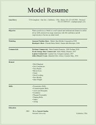 Modeling Resume 4 Printable Model Resume Template