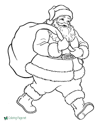 Fun santa coloring pages for your little one. Christmas Coloring Pages