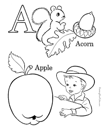 alphabet coloring pages letter a