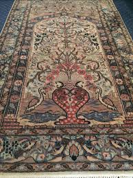 silk and wool persian rug handmade 160x98 with the certificate of origin