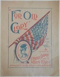 vintage sheet music, For Old Glory, Eleanor Mora, 1898, rrr11704