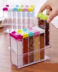 Kitchen Spice Jar Storage Boxes Acrylic 6pcs Set Buy Sell Online