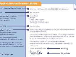 Formal Letter Format To Company Sample Format For Writing A Letter
