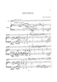 reverie for viola and piano wieniawski henri imslp petrucci  sheet music