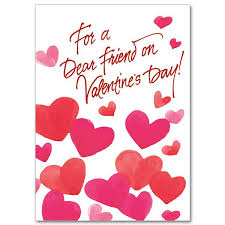 For A Dear Friend On Valentines Day Valentines Day Card