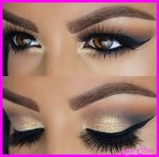 blue eye makeup look makeup granat przeu0142amany ciepu0142ym zu0142otem w makijau017cu