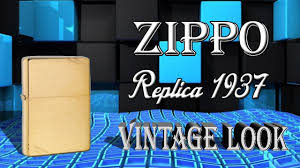1937 <b>ZIPPO</b> REPLICA 240Vintage Brushed Fin Brass - YouTube