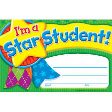 Star Student Certificates Im A Star Student Award Certificates