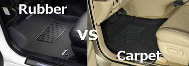 Rubber vs Carpet Car Floor Mats PartCatalogcom