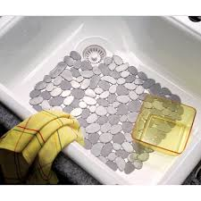 interdesign large pebble sink mat graphite