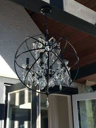 crystal orb chandelier for brushed nickel uk