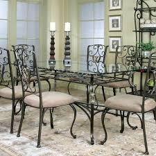 Wescot Rectangular Glass Dining Table