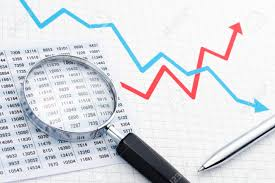 Making Graph Analyzing Data With Magnifying Glass Chart Graph