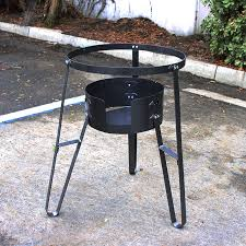 portable cast iron cooking stand gas propane stove camp outdoor burner cooking