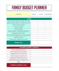 Simple Household Budget Template Family Monthly Weekly