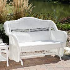 white resin wicker patio chairs. Amazon.com : Coral Coast Casco Bay Resin Wicker Outdoor Glider Loveseat Patio Gliders Garden \u0026 White Chairs K