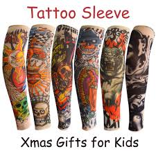 Amazoncom 6pcs Temporary Tattoo Sleeve For Kids Boys Girls Fake