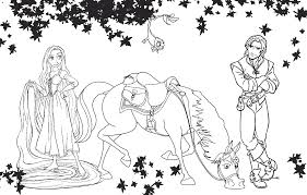 Small Picture Barbie Rapunzel Coloring Pages Coloring Page