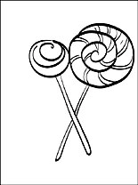 Lollipop Coloring Page Coloring Pages