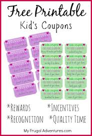 Example Of A Coupon Custom Children's Gift Idea Free Printable Reward Tickets My Frugal