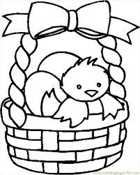 Small Picture Easter Basket 22 Coloring Page Free Holidays Coloring Pages