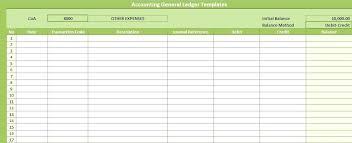Account Ledger Printable Simple Ledger Template Account Book Accounting Excel General