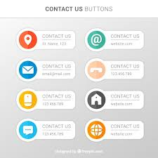 Email Buttons Various Contact Buttons In Flat Design Vector Free Download